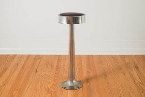 Chrome & Leather Stool