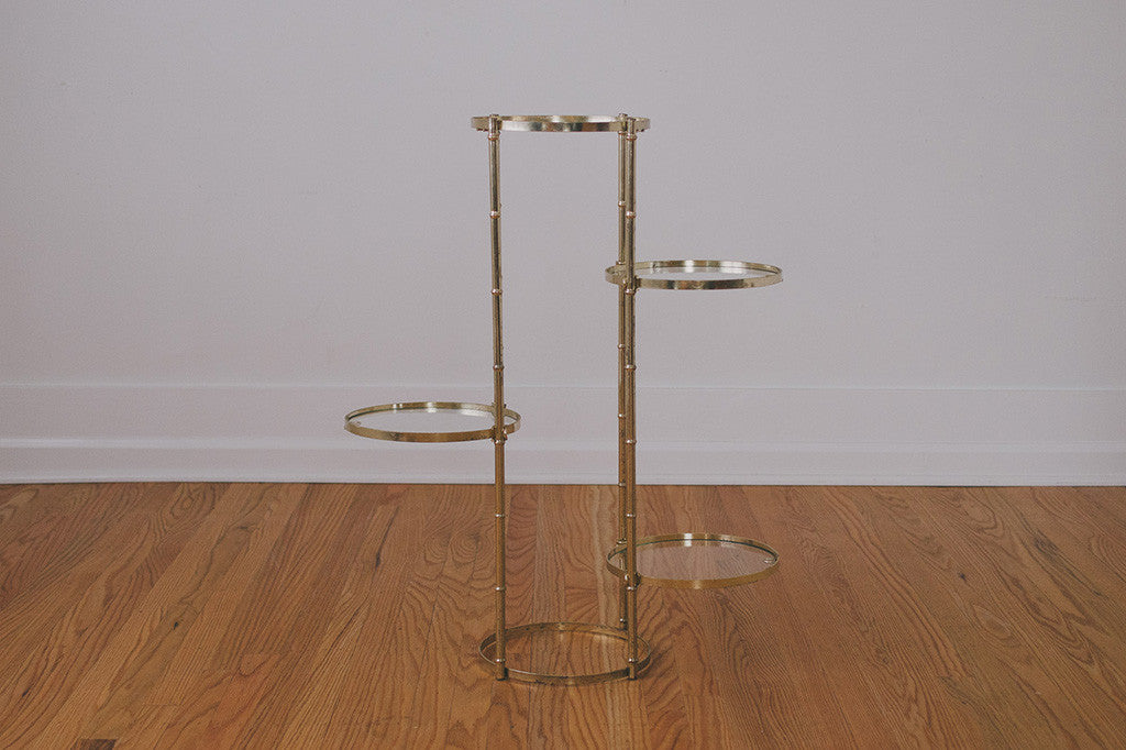 Brass Amp Glass Plant Stand Homestead Seattle