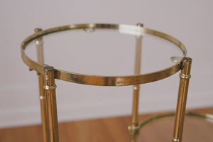 Brass & Glass Plant Stand