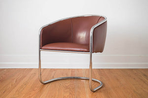 Leather & Chrome Chair