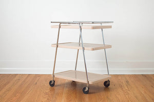 Pink Metal Bar Cart