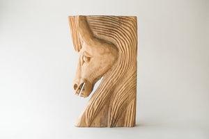 Carved Horse Bust