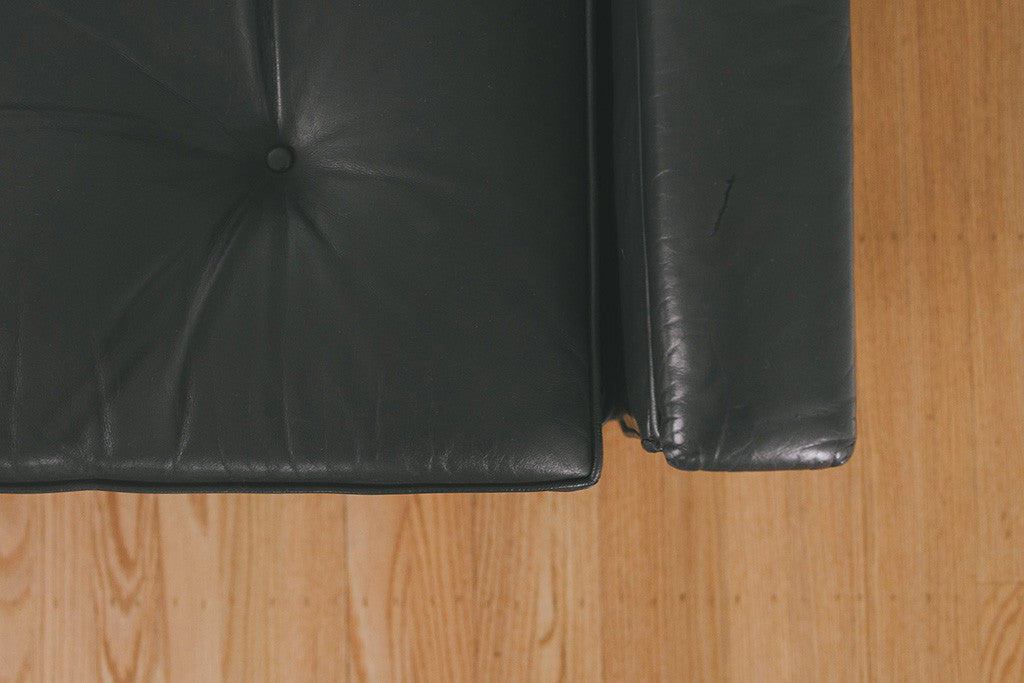 MCM Black Leather Sofa