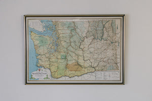 Vintage State of Washington Map