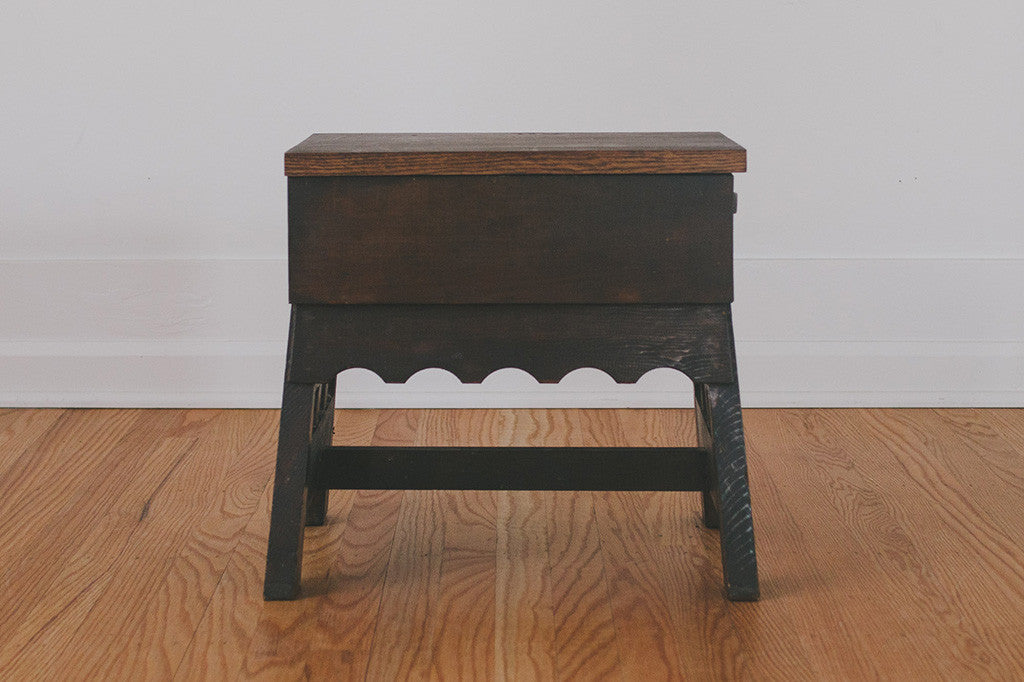 Vintage Handcrafted Storage Stool