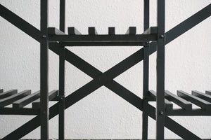 Black Slat Shelf