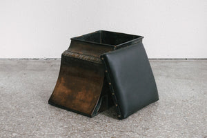 Copper & Leather Stool