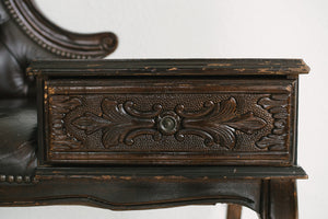 Leather Entry Bench
