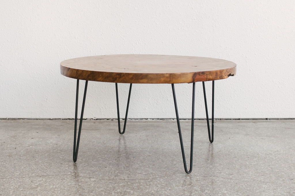 burlwood coffee table | homestead seattle
