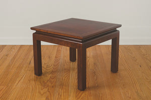Walnut & Brass End Table