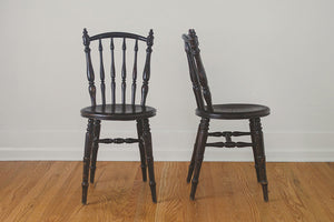 Antique Star Seat Dining Chairs