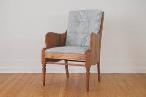Vintage Ticking Stripe Chair