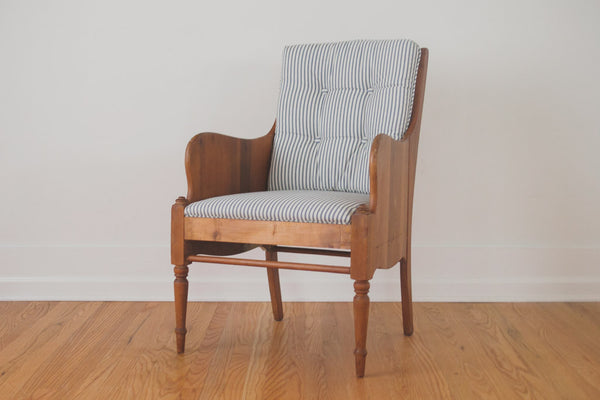 Greyhound Shipping Quote >> Vintage Ticking Stripe Chair - Homestead Seattle