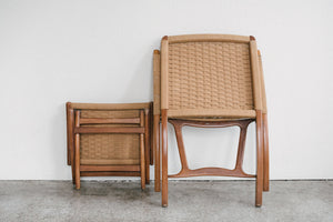 Japanese Chair & Ottoman