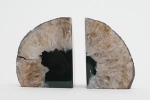 Black Agate Bookends