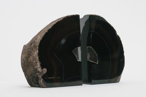 Black Quartz Bookends
