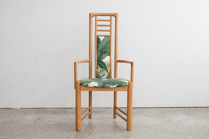 Highback Teak Palm Chair