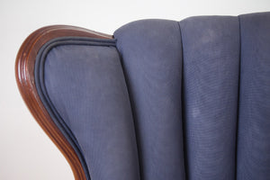 Silk Channel Back Wing Chair