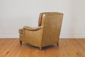 Distressed Leather Club Chair
