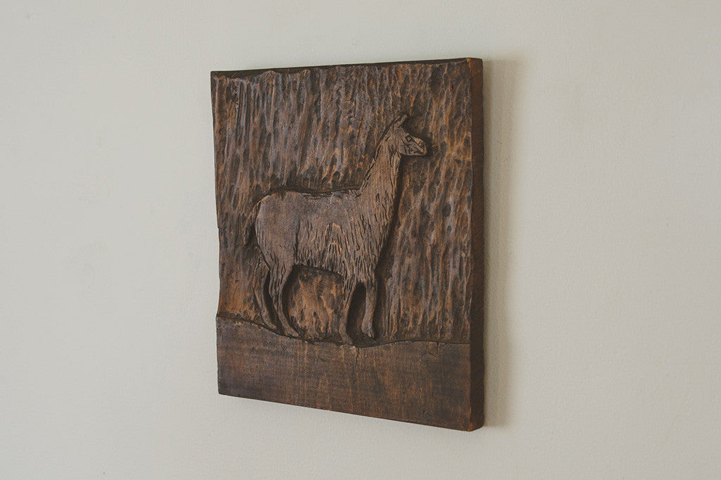 Hand Carved Alpaca Wall Art