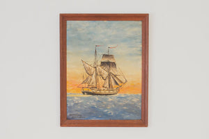 MCM Nautical Oil Painting