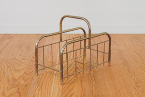 MCM Brass Blanket Holder