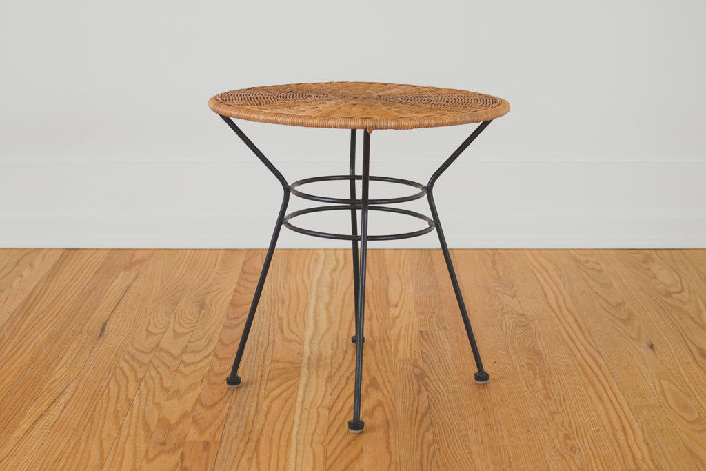 MCM Wicker Side Table