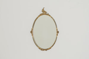 Vintage Brass Framed Mirror