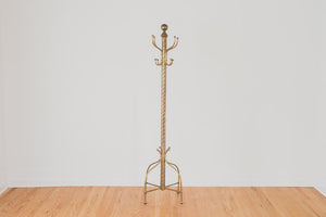 Vintage Brass Coat Rack