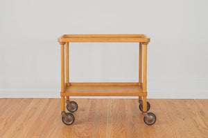MCM Wood Bar Cart
