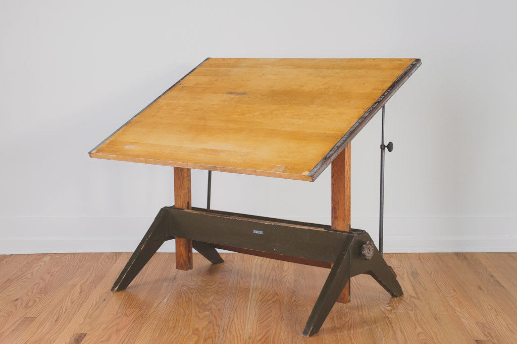 Greyhound Shipping Quote >> Vintage Mayline Drafting Table | Homestead Seattle