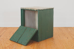 Green Painted Storage Table