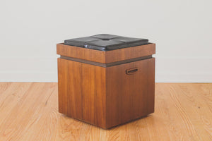 Lane Leather Storage Stool