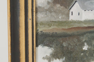 Vintage Lake House Painting