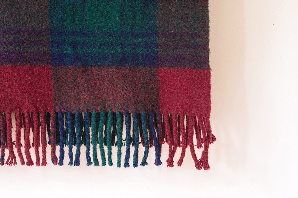 Scottish Tartan Wool Blanket