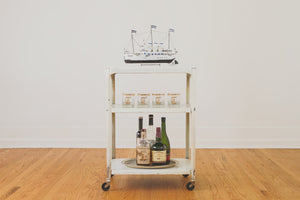 Vintage Steel Bar Cart