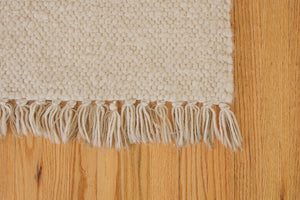 Cream Wool Area Rug
