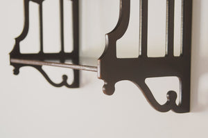 Vintage Carved Walnut Shelves