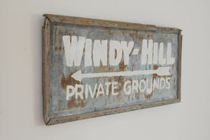 Vintage Camp Grounds Sign
