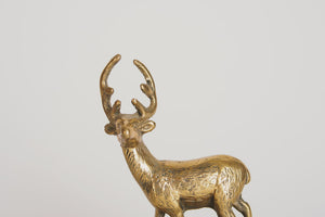 Brass Stag Music Box