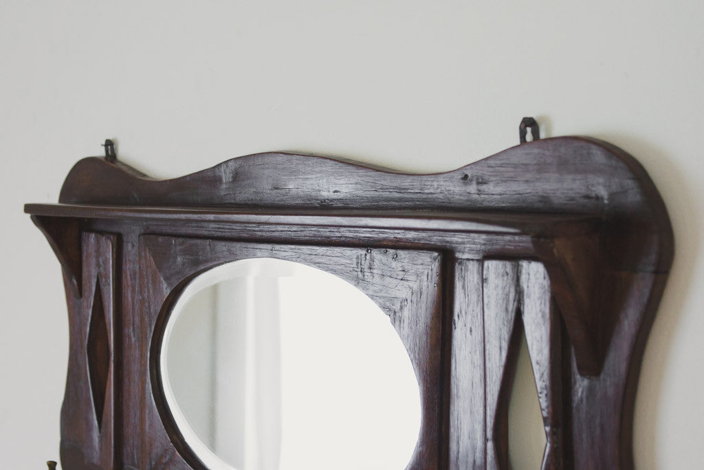 Vintage Mirrored Coat Rack