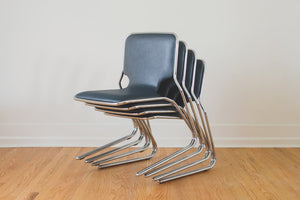 MCM Chrome Dining Chairs