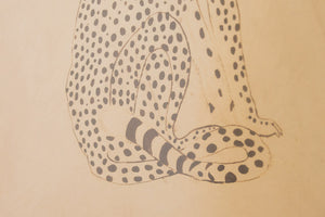 Vintage Leather Cheetah Art