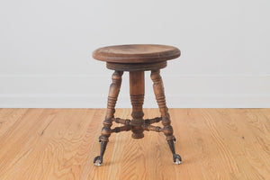 Vintage Clawfoot Piano Stool