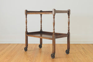 English Oak Bar Cart