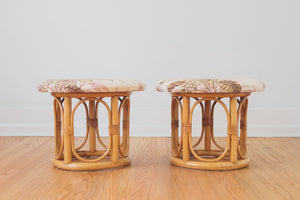 Pair of Bamboo Stools