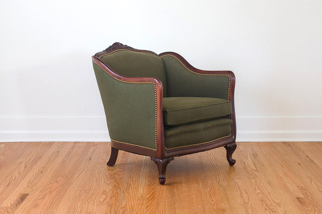 1920s Military Club Chair