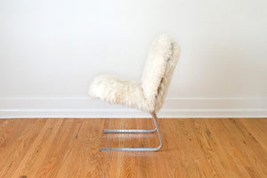 Chrome & Sheepskin Chair