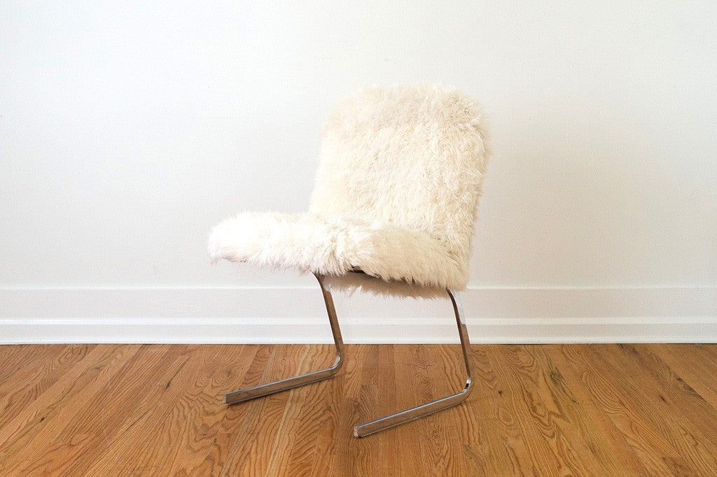 Chrome U0026 Sheepskin Chair