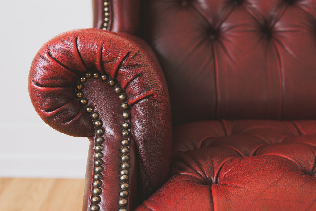 Leather Chesterfield Wingback